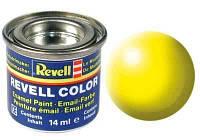 Краска № 312 светящаяся желтая шелковисто-матовая luminous yellow silk 14ml, Revell