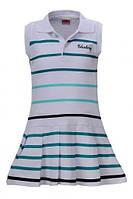 Трикотажное детское платье Glo-Story : GYQ-1768 Белый+зеленый