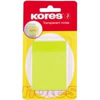 Блок бумаги для заметок Блок бумаги для заметок с клейким слоем 50х75 мм  50 листов пластик Kores K48186  неон желтый (K48186 x 119894)