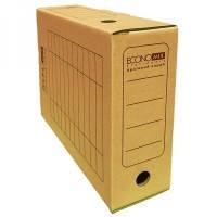 Бокс для архивации документов 240х100х355 коричневый Еconomix 32704-07 20шт/уп