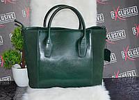 Стильная зеленая женская КОЖАНАЯ сумка.