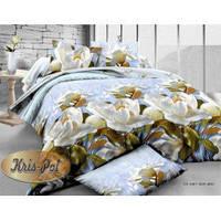 Комплект постельного белья семейный пастельного цвета