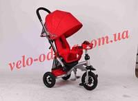 Детский трехколёсный велосипед т-350 с эко-материалом и фара