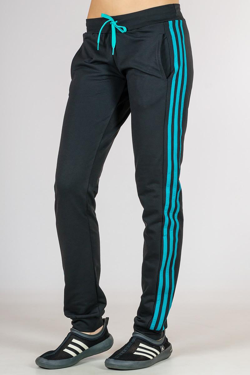 a115508e24f Черные спортивные брюки женские штаны с лампасами трикотажные на резинке  (манжет) Украина - Интернет
