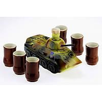 Коньячный набор БТР танк 7 предметов