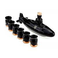 Коньячный набор Подводная лодка  субмарина , 7 предметов