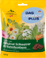 Оригінальні швейцарські трави Льодяники DAS gesunde PLUS Original Schweizer Kräuterbonbons, 125 g
