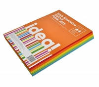 Бумага цветная набор  А4 80 г/м 250л  idea! 50х5 Intensive Colour MIX