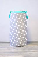Мягкая гигантская корзина для игрушек «Звезды с мятой»