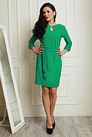 Красивое повседневное платье зеленого цвета на лето