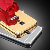 Металлический зеркальный чехол бампер для Meizu Pro 6 / 6s (4 цвета в наличии)