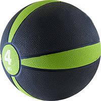Мяч медицинский (медбол) 4 кг D=22см зеленый