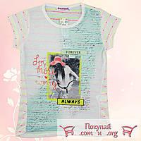 Лёгкая летняя футболка для девочек от 10 до 15 лет (5146-3)