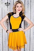 Стильное женское янтарное платье Доминика Luzana 44-52 размеры
