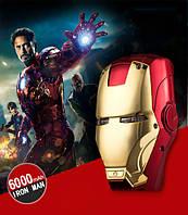 Внешний аккумулятор для телефона Iron man. Power bank 6000 mAh