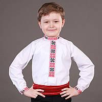 Українська сорочка на кнопках Для хлопчика в школу, фото 1