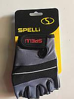 Велоперчатки без пальцев с гелевыми вставками  Spelli A-345 М