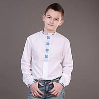 Вышиванка на кнопках для мальчика с воротником стойкой, фото 1