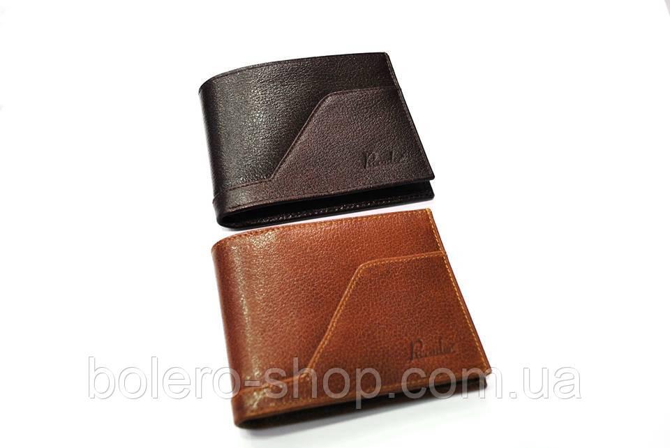 Мужской кошелек коричневый черный кожаный брендовый Piccorder