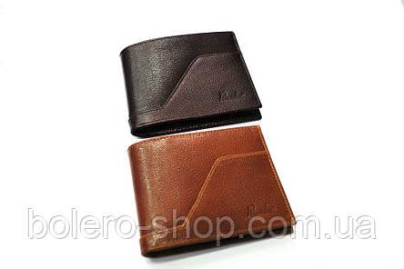 Мужской кошелек коричневый черный кожаный брендовый Piccorder , фото 2