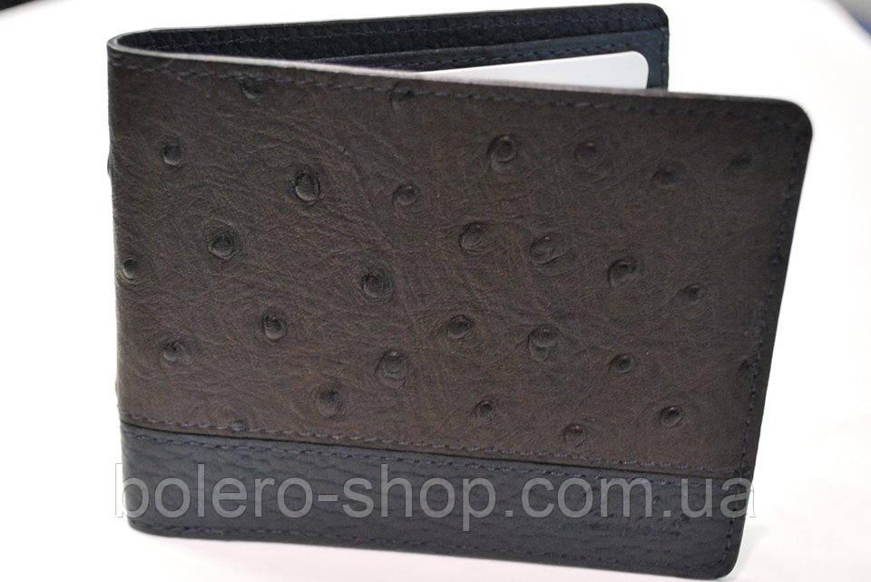Мужской кошелек  черный кожаный брендовый Piccorder