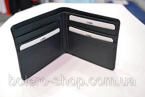 Мужской кошелек  черный кожаный брендовый Piccorder , фото 2