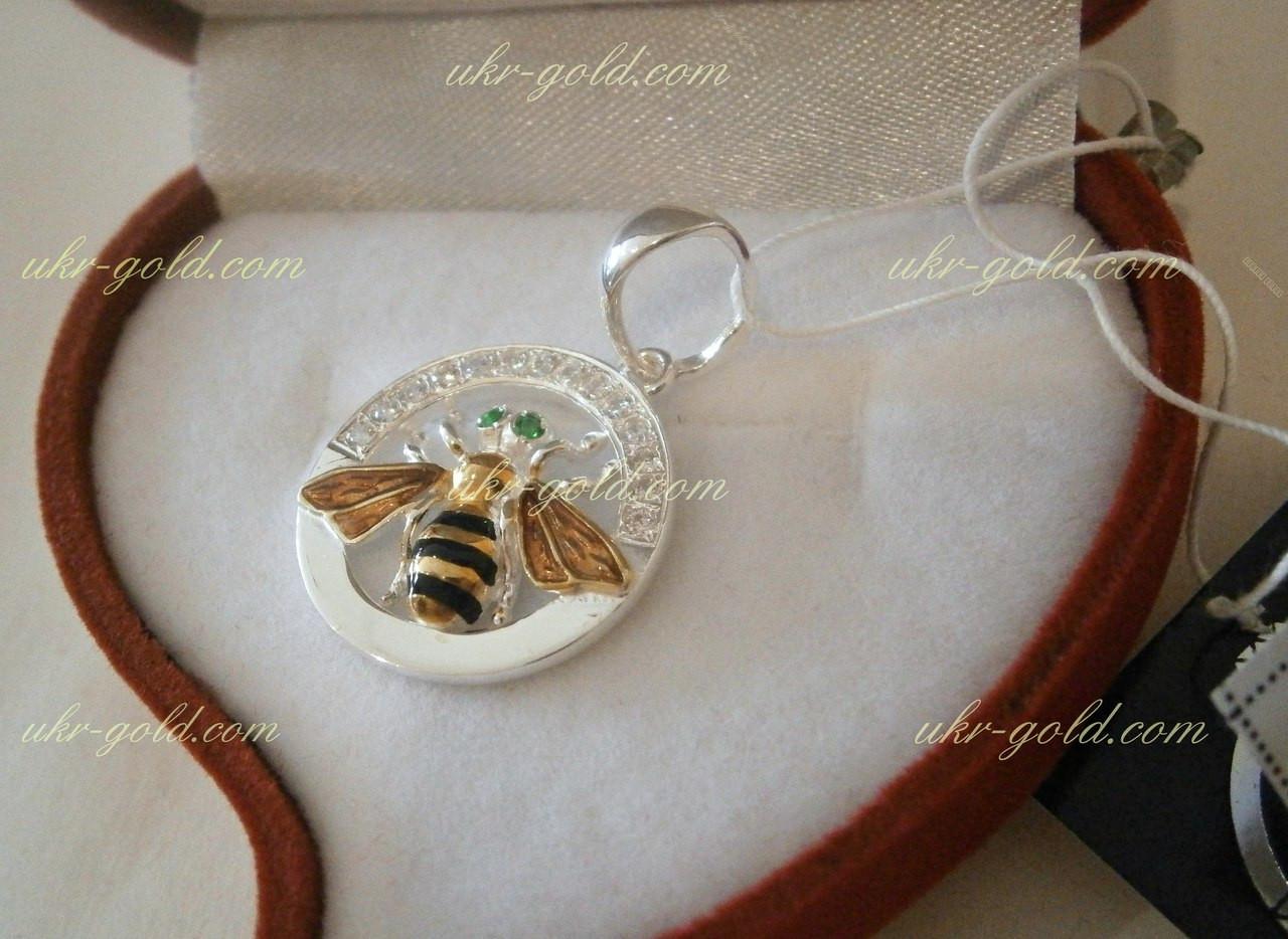 Підвіс срібло зі вставками золота