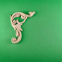 Код ДУ1. Деревянный резной декор для мебели. Декор угловой