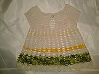 Ажурное платье-сарафанчик на девочку 9-12 месяцев