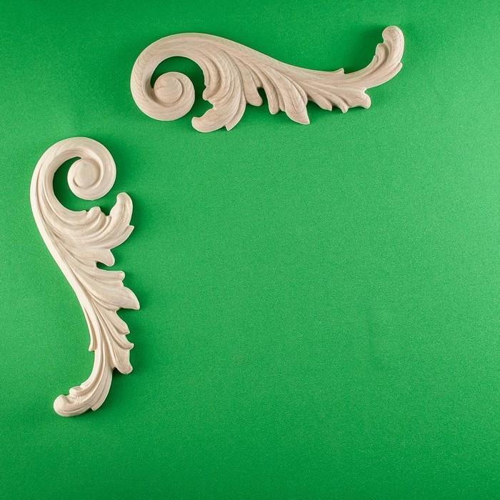 Код ДУ4. Деревянный резной декор для мебели. Декор угловой