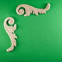Код 4. Деревянный резной декор для мебели. Декор угловой, фото 1