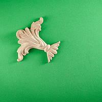 Код ДУ 3 А. Деревянный резной декор для мебели. Декор угловой, фото 1