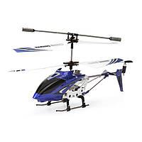 Вертолет Syma S107G синий с 3-х канальным и/к управлением, светом и гироскопом