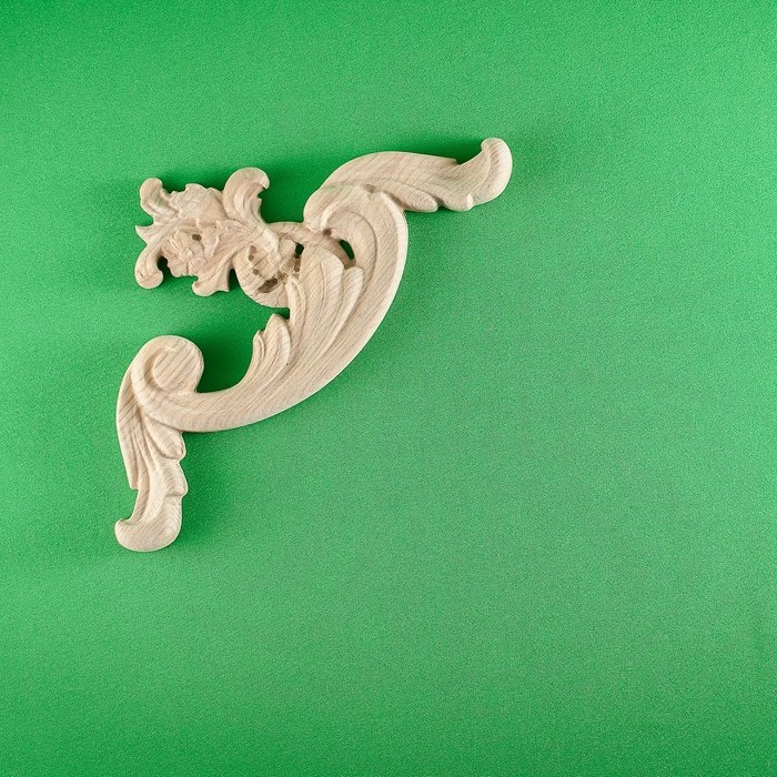 Код ДУ6. Деревянный резной декор для мебели. Декор угловой