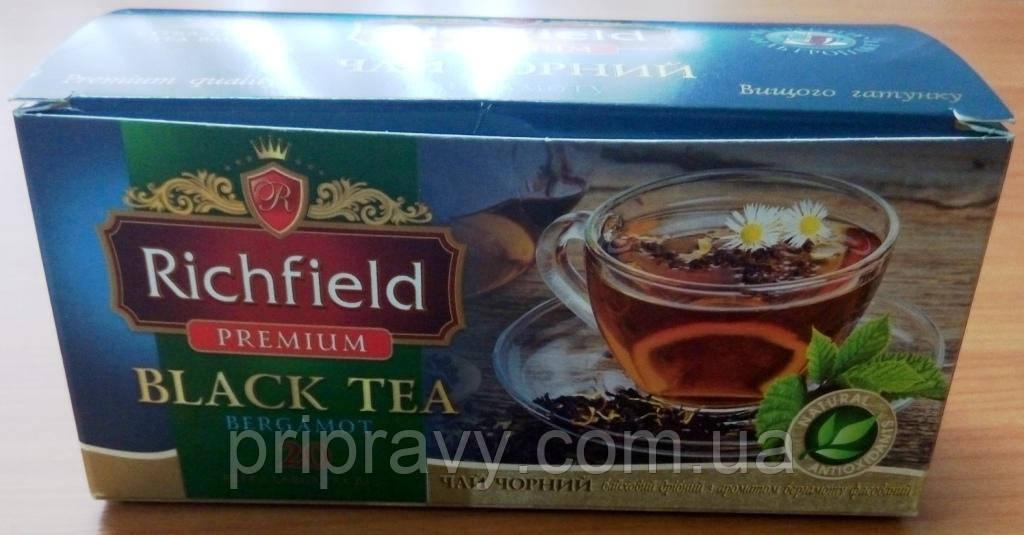 Чай черный с бергамотом Премиум, ТМ Richfield, 20 пак.