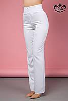 """Женские брюки с высокой талией """"Флоренсе"""" (белый), фото 1"""