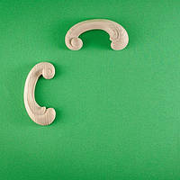 Код ДУ9. Деревянный резной декор для мебели. Декор угловой, фото 1