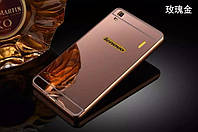 Металлический зеркальный чехол бампер для Lenovo A7000 (4 цвета в наличии)