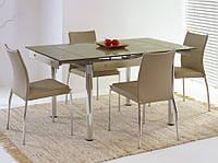 Раздвижной стеклянный обеденный стол Elton (Halmar)