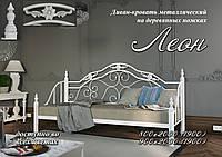 """Кровать-диван на деревянных опорах """"Леон"""" 80х200(190)"""