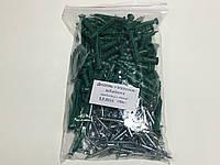 Дюбель с ударным шурупом  6х40  гриб ПЕ зелений