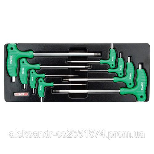 Набор шестигранников с ручкой L-образных GAAT0803 TOPTUL