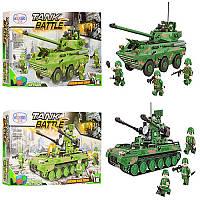 Конструктор «Военный танк» 1307-1309, 517 деталей