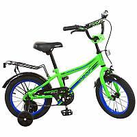 Велосипед детский двухколесный Top Grade L14102 Profi, 14 дюймов салатовый