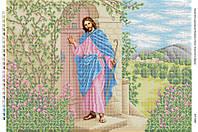 """А2 """"Ісус стукає у двері"""" схема для вишивки бісером ікони"""