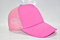 Кепка базовая розовая