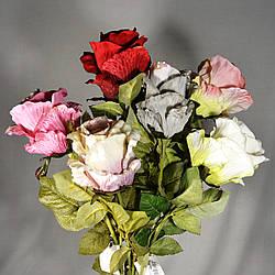 Роза искусственная 80 см в ассортименте