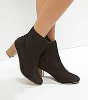 Полусапожки, ботинки замшевые  женские Нью Лук, New Look
