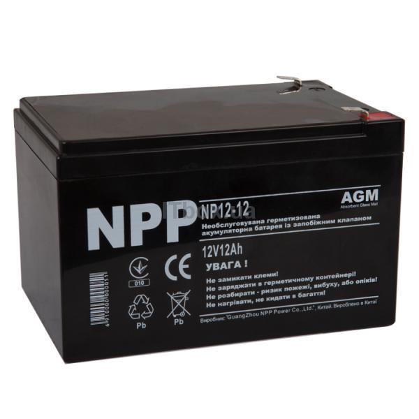 Свинцево-кислотний акумулятор NP12-12 (NPP)
