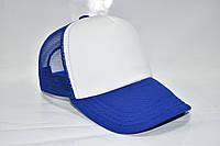 Кепка базовая синяя с белым